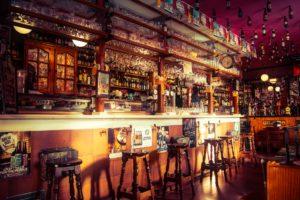Bar pub with stools