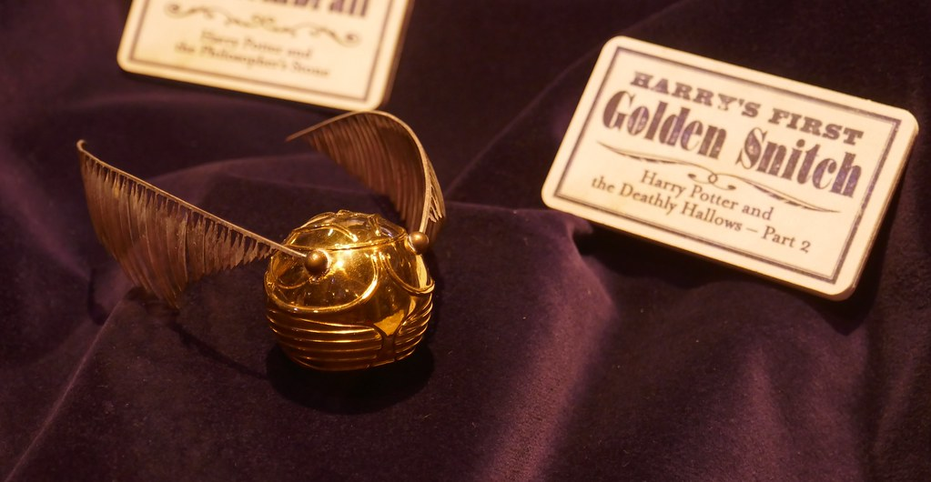 The golden snitch as a decoration