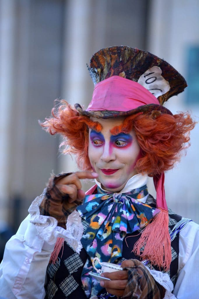 A very elaborate Mad Hatter costume