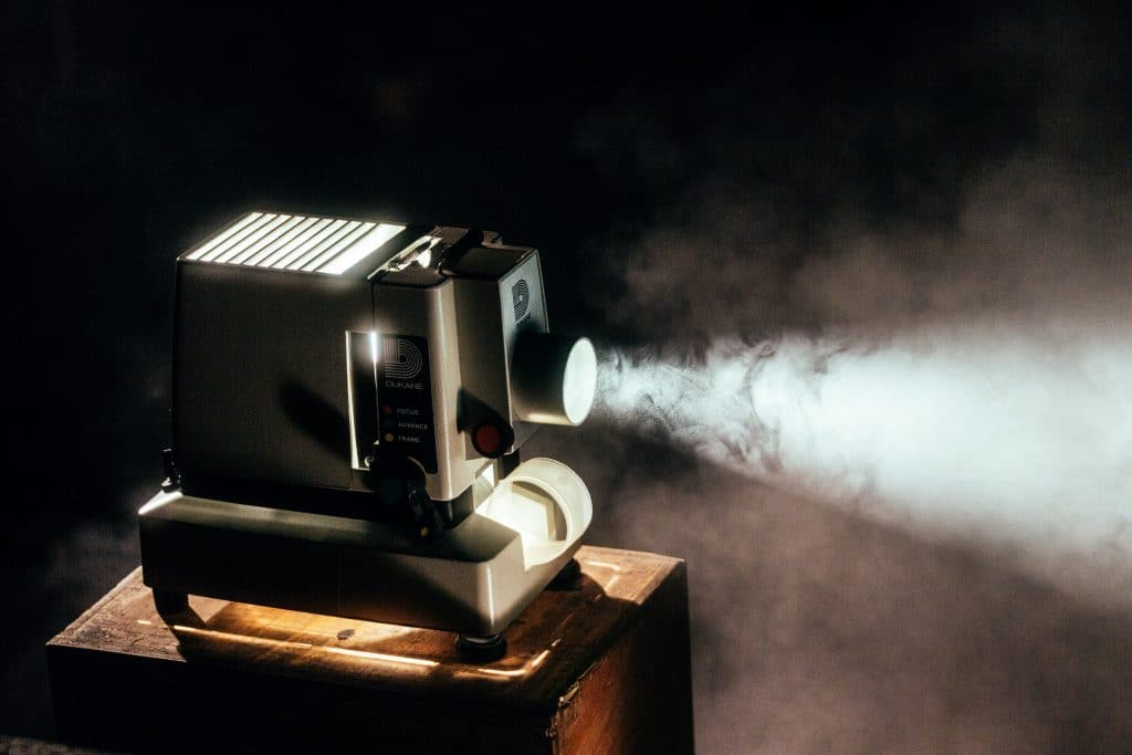 A movie projector