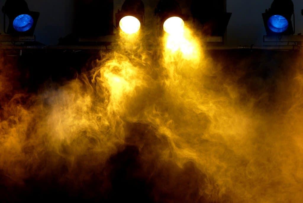 Spotlights with fog