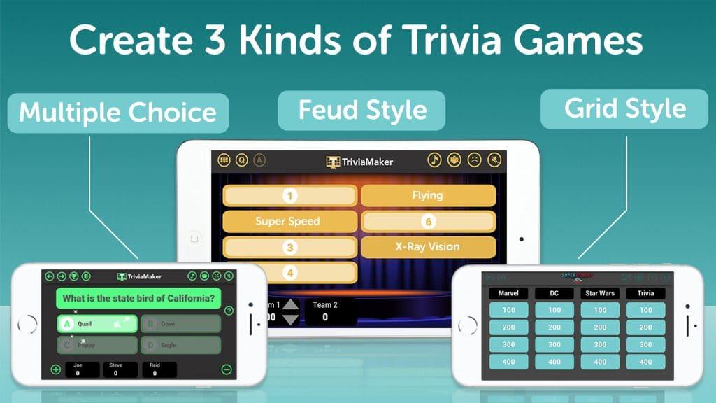 Trivia Maker features