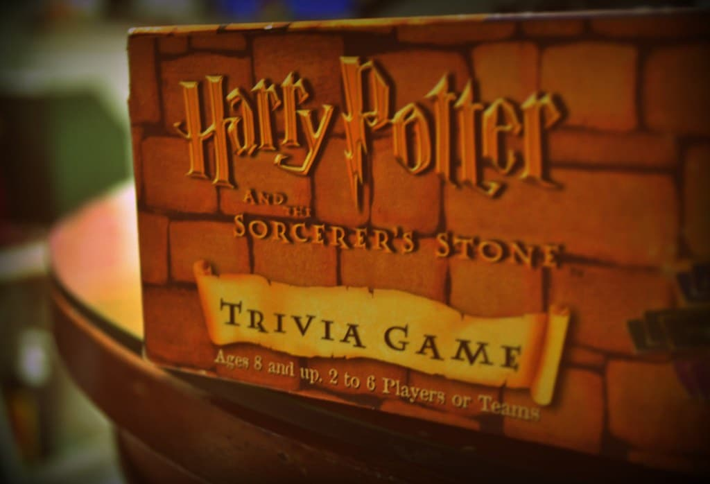 Game box for Harry Potter and the Sorcer's Stone Trivia Game