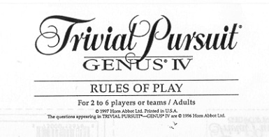 The rules of trivial pursuit