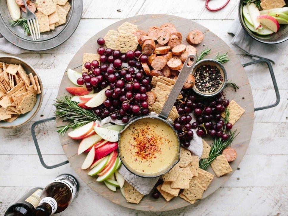 Beautiful platter of snacks