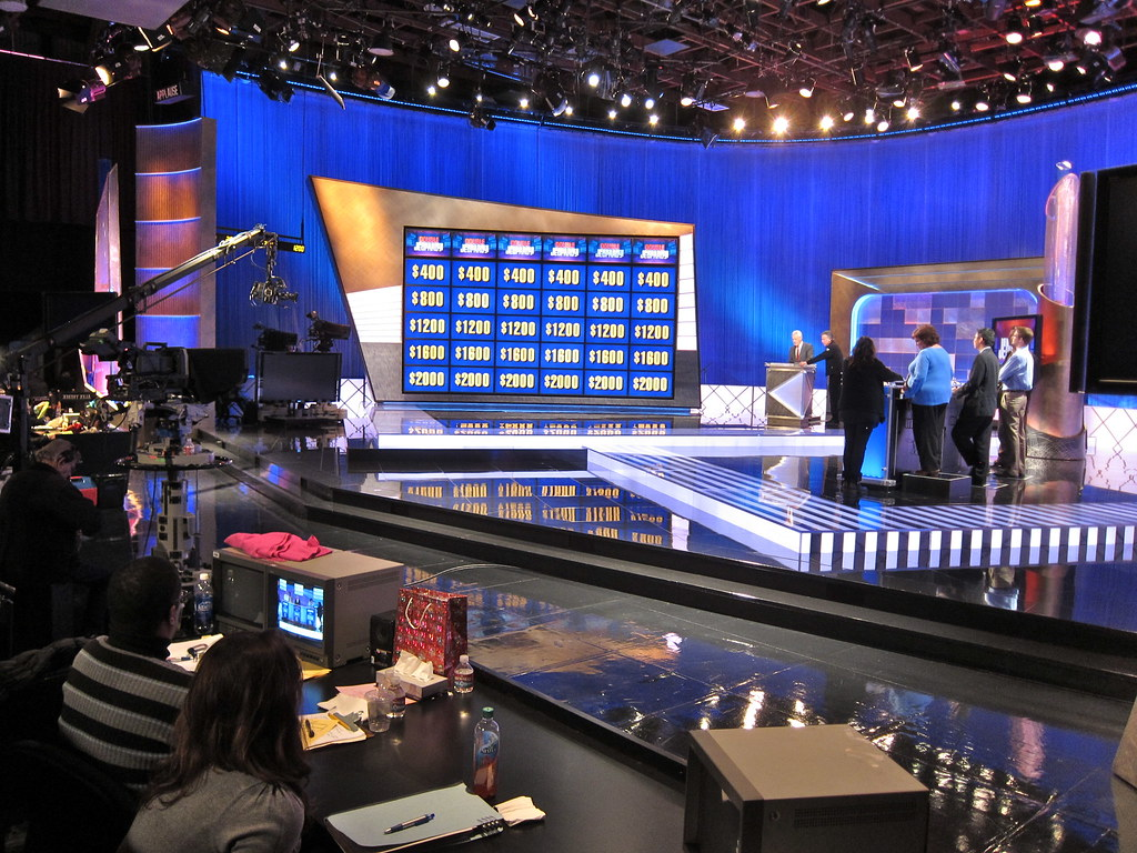 Behind-the-scenes look at the Jeopardy! set.