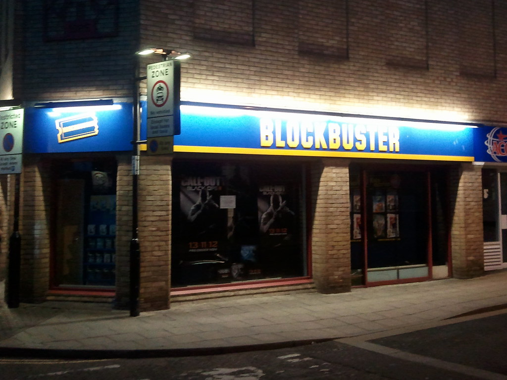 Image of a Blockbuster Video store