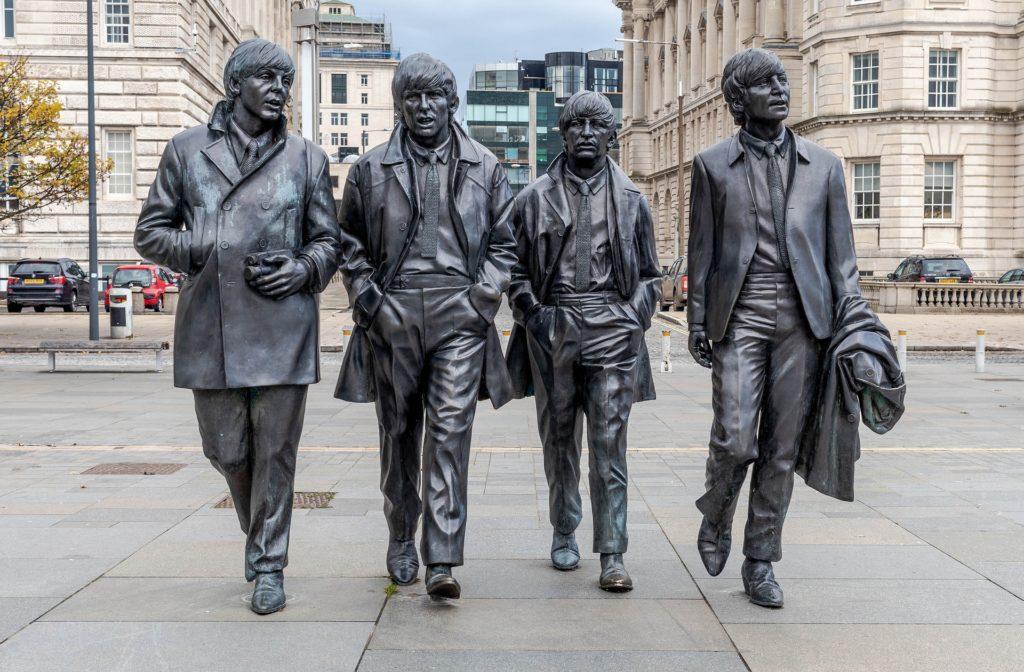 Beatles statue in London.