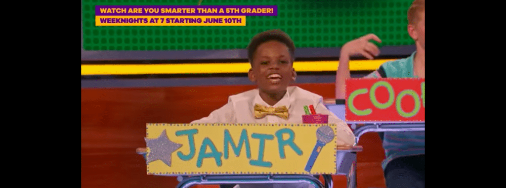 Child contestant on Are You Smarter Than a 5th Grader?