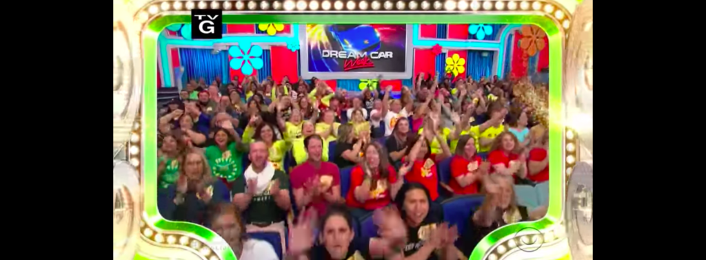Audience on camera during The Price is Right