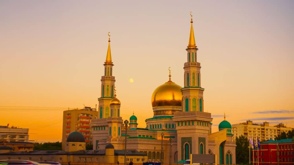 Moscow Cathedral Mosque during Sunset