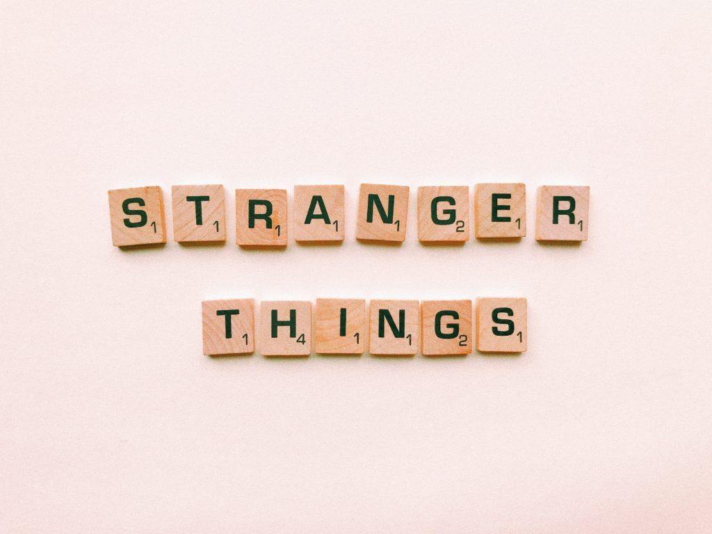 Stranger Things Scrabble letter tiles