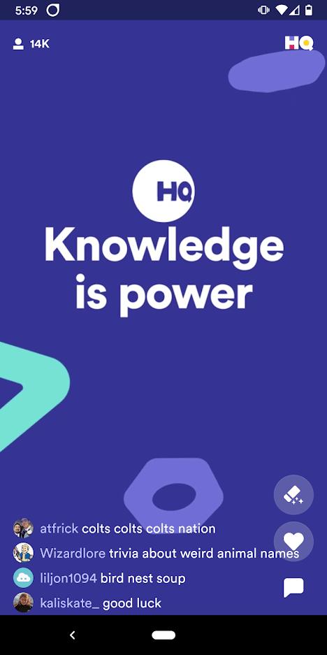 HQ Trivia Screenshot