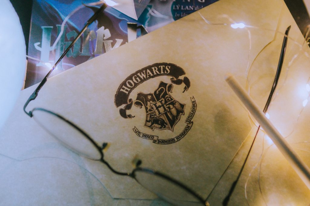 Harry Potter Hogwarts letterhead on paper.