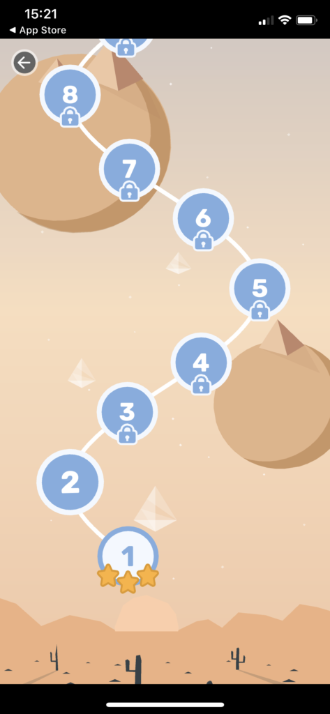 Fig 1. Screenshot taken by Anastasia Voloshina from the app QuizzLand, mnoGoApps, 2021.