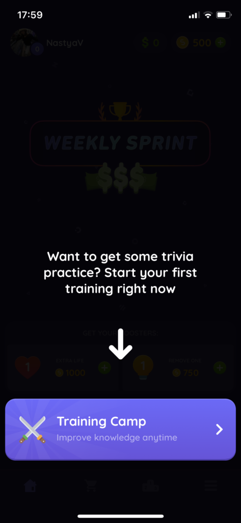 Fig 2. Screenshot taken by Anastasia Voloshina from the app Sphynx Trivia, GMRD Apps Limited, 2021.
