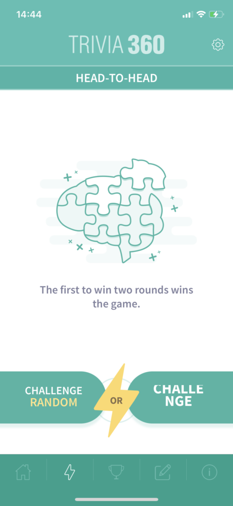 Fig 3. Screenshot taken by Anastasia Voloshina from the app Trivia360, Smart Owl Apps, 2021.
