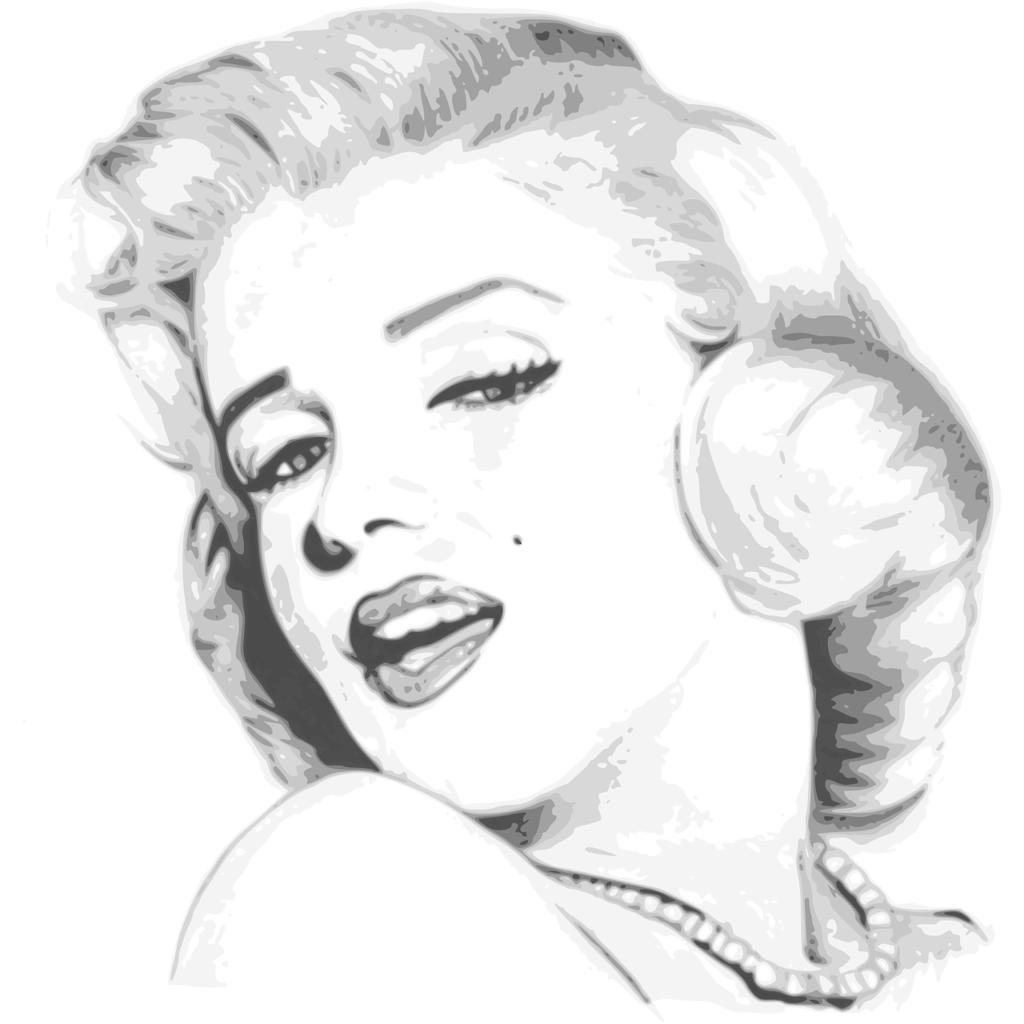Drawing of Marilyn Monroe