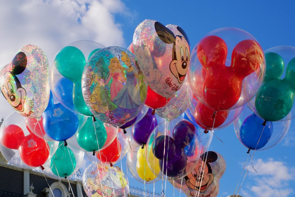 Mickey Mouse balloons.
