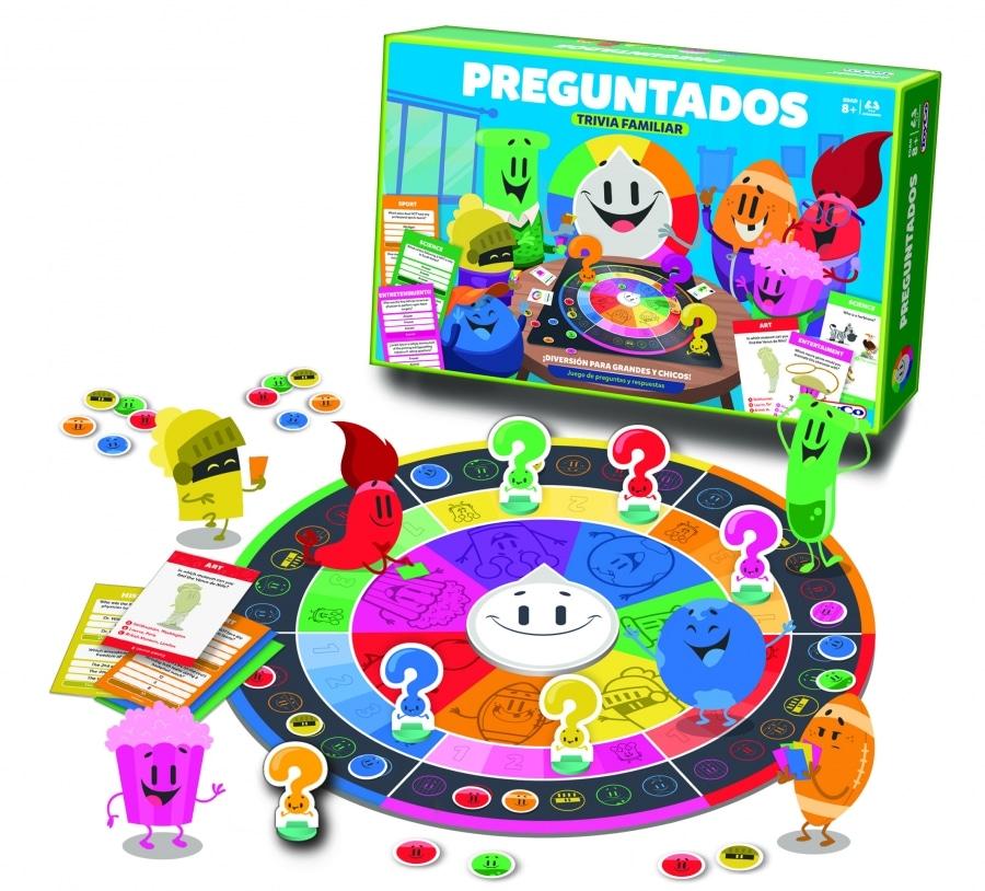"""Preguntados"" board game and pieces (ToyCo)."