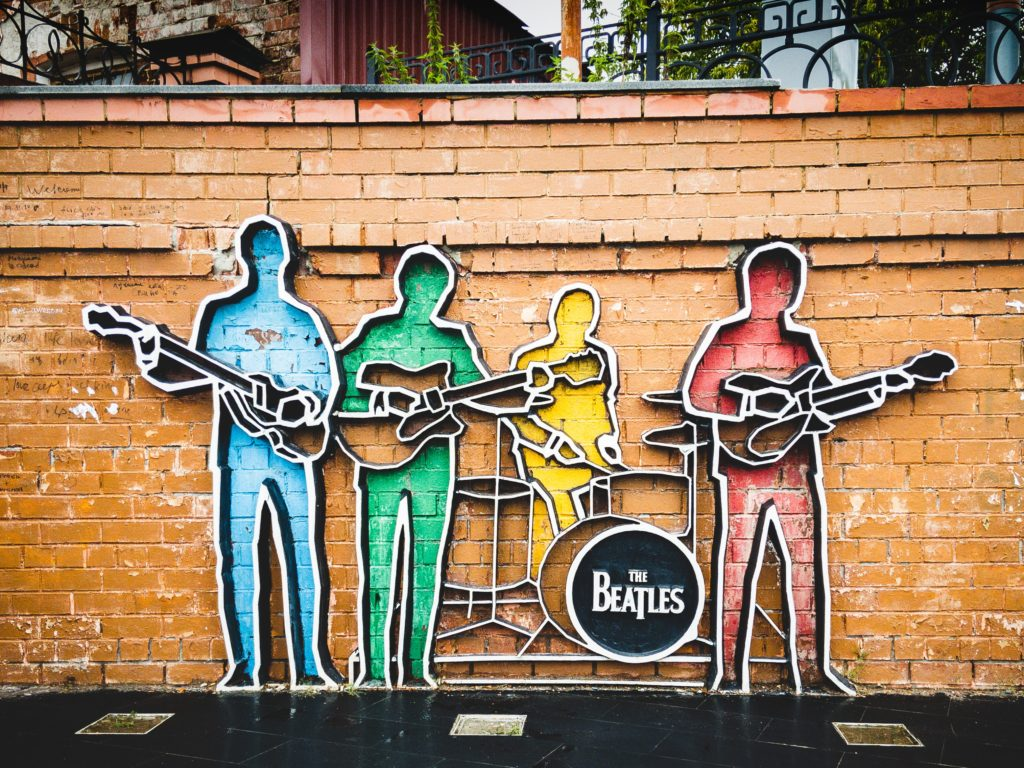 Graffiti of the Beatles.