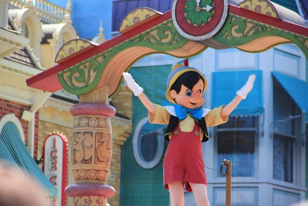 Pinocchio at the Disney World Parade.