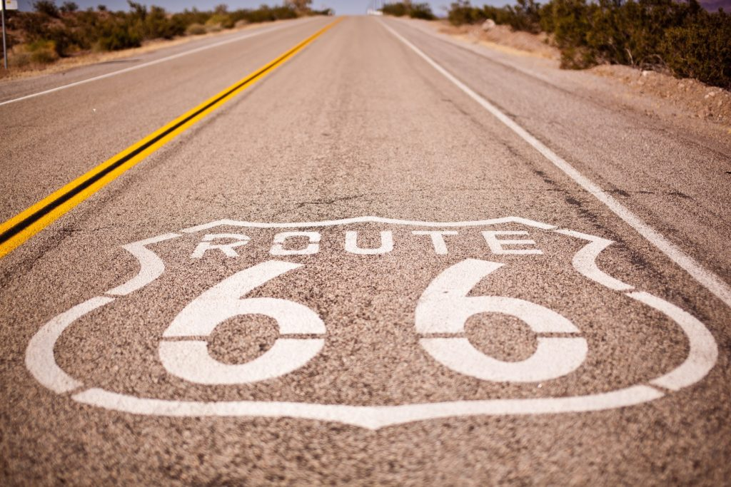 A photo of Route 66