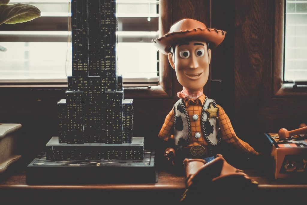 Woody doll from Toy Story.