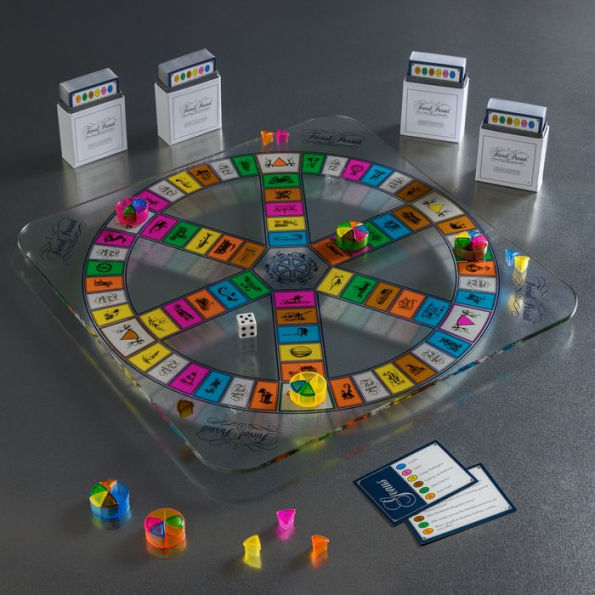 Trivial Pursuit Glass Edition, photo courtesy of Barnes and Noble