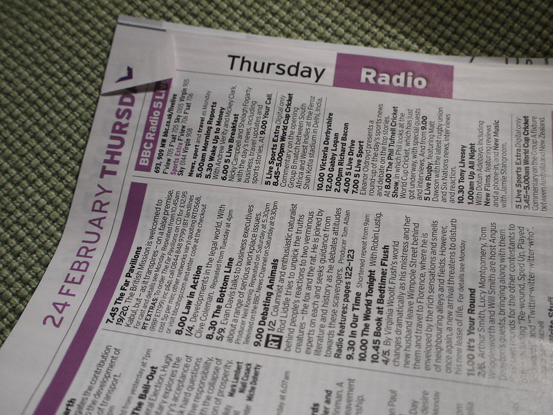 Dog-eared issue of the Radio Times