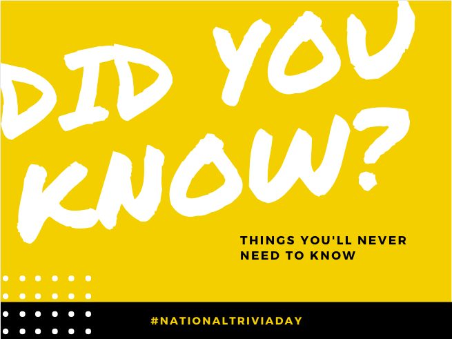 """Yellow, Black and White invitation that reads """"Did You Know? Things You'll Never Know"""""""