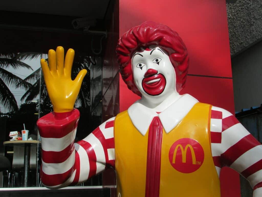 Ronald McDonald statue.