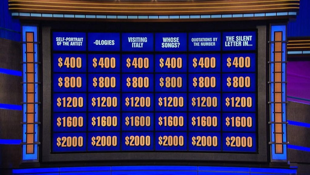 The Double Jeopardy! board.