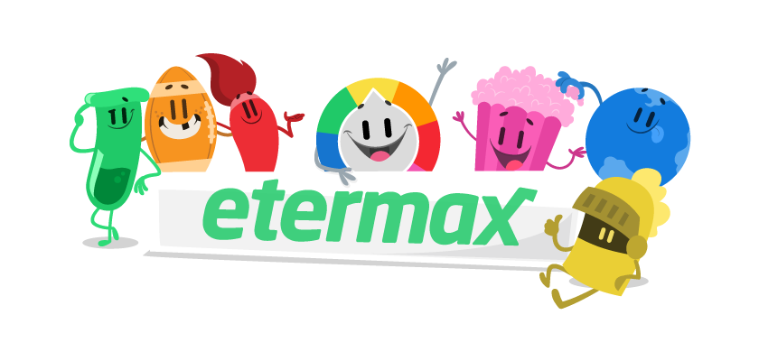 Etermax logo featuring Trivia Crack characters