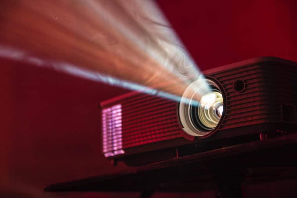 Projector machine.