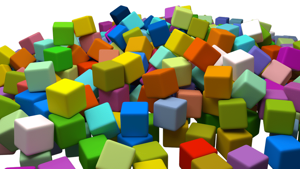Colorful assorted boxes