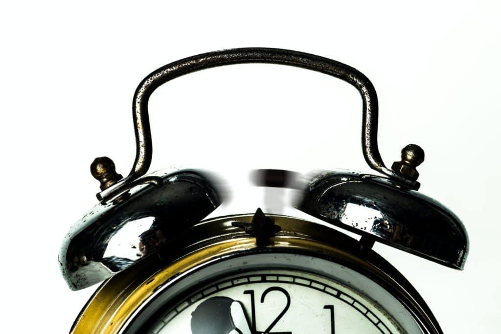 Close-up of an alarm clock.