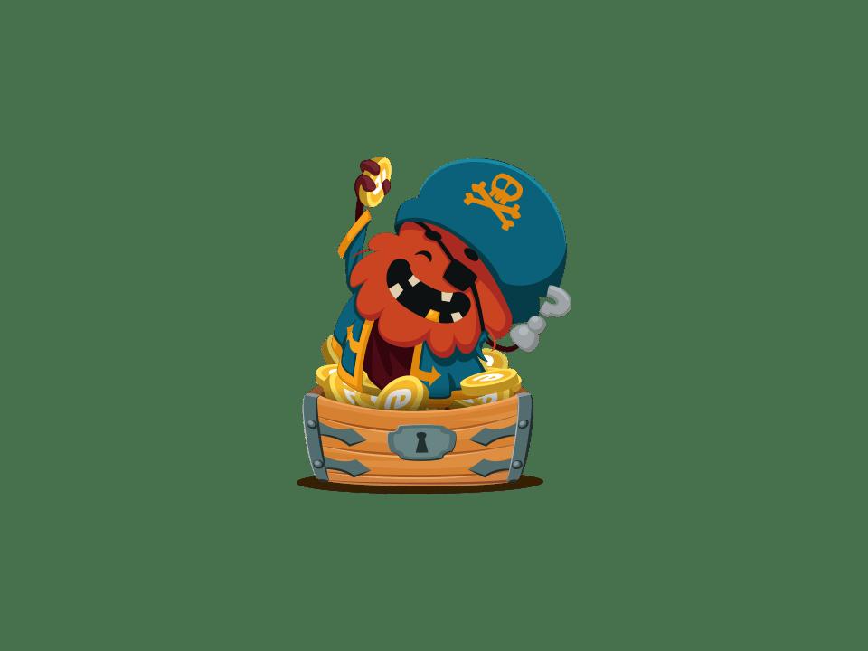 Trivia Crack Kingdoms character Cap'n Skagg, a pirate.