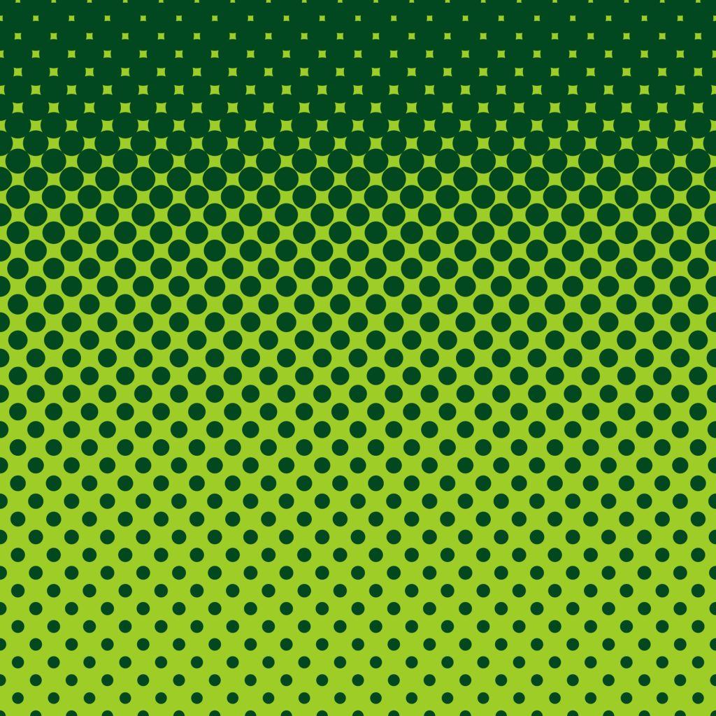 Green dots on a green background.
