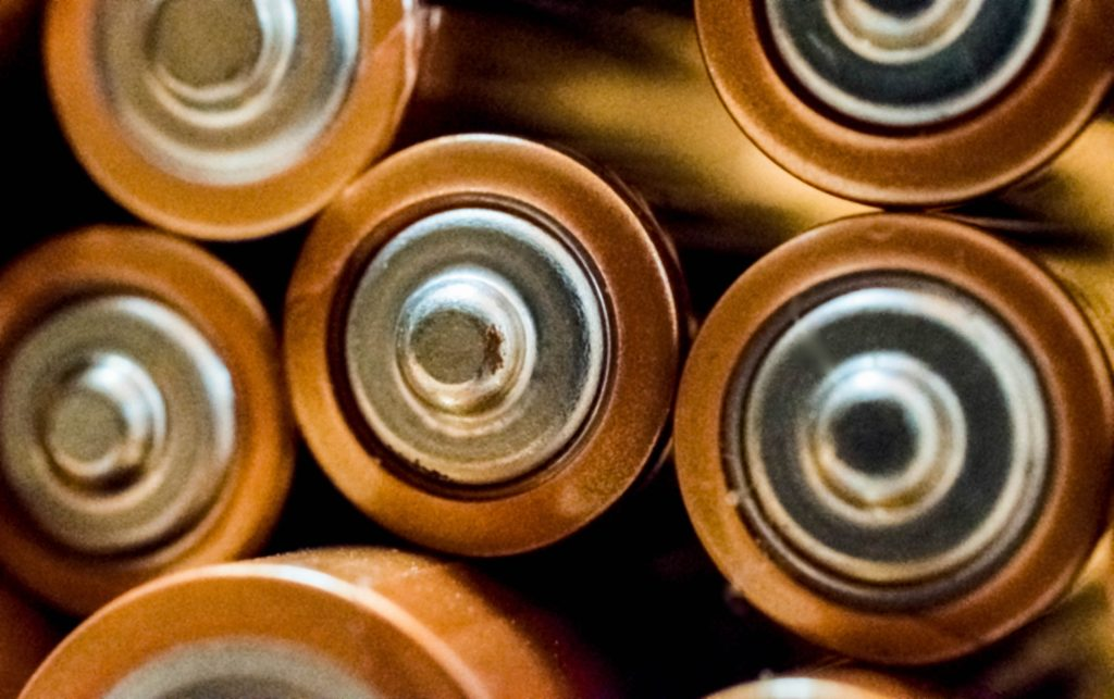 Batteries stacked on top of one another