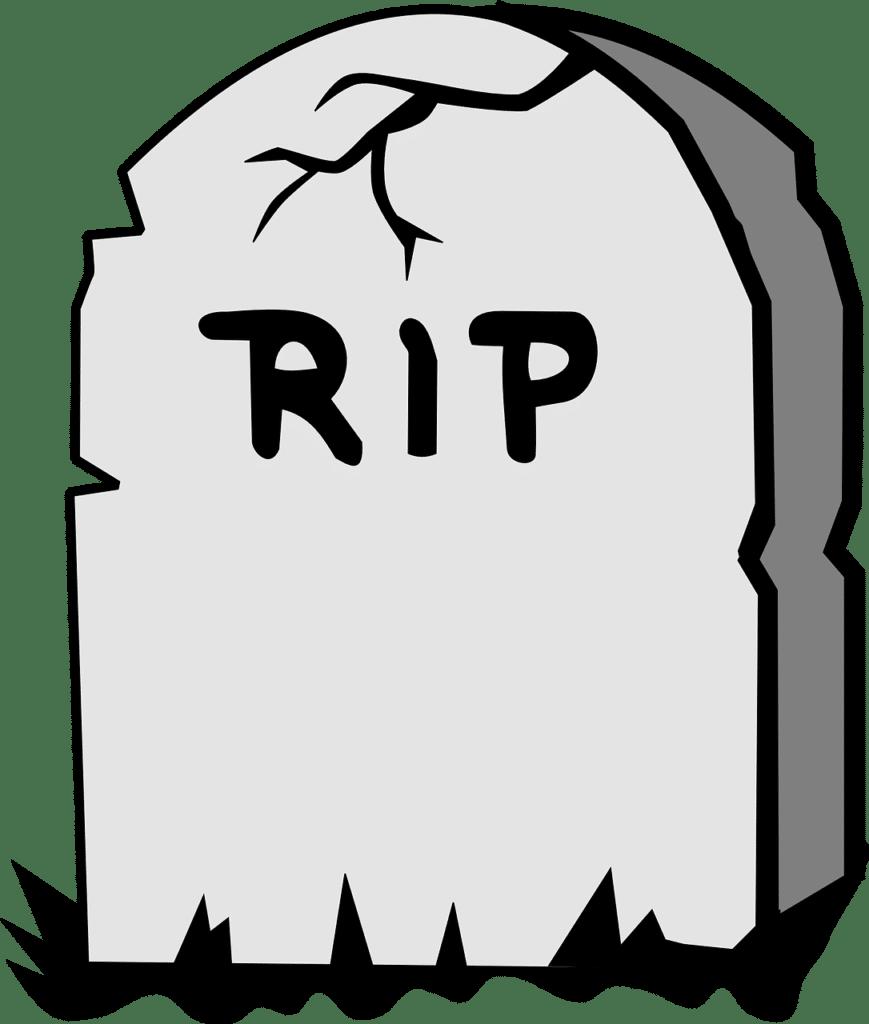 Illustration of a gravestone.