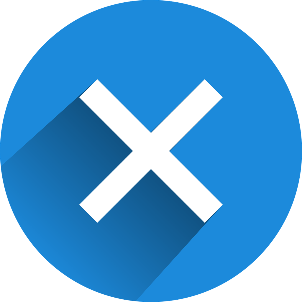Blue shut down symbol.